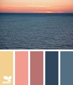 This palette is different from my normal choice of jewel tones. I do like the sunset colors, so this will be a good choice of colors to try. - Our Home Decor Design Seeds, Colour Schemes, Color Patterns, Color Combos, Picture Color Schemes, Beach Color Schemes, Colour Palettes, Decoration Palette, Sunset Colors