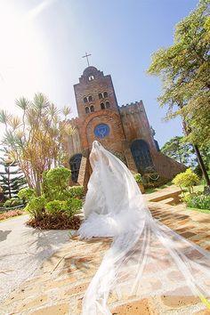 bridal march / walking down the aisle at Caleruega church  www.foreverydayphoto.com  .