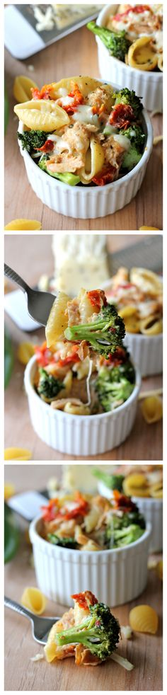 {USA} Broccoli Chicken Mac and Cheese - This lightened-up mac and cheese is a sure way to get even the pickiest of eaters to eat their veggies!