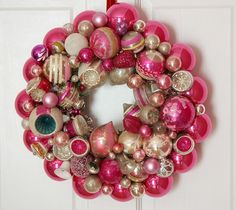 Vintage Ornament Wreath