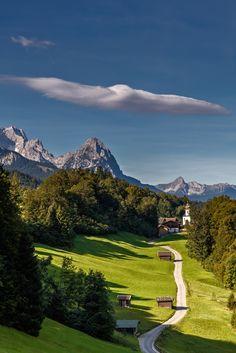 Bavarian Landscape - )