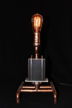 Copper pipe lamp radiator by CoolCopperLamps on Etsy