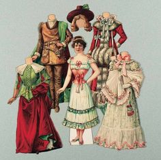 """Paper Dolls, 1790-1940 - The Collection of Shirley Fischer: 97 English """"Miss Julia Marlowe"""" from Famous Faces Series by Raphael Tuck"""
