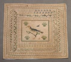 A 19th Century Spanish Sampler Dated 1840 ~ http://www.famsf.org/