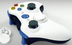 """This is our """"White & Black Silk"""" Xbox 360 Modded Controller. All modes are adjustable rapid fire meaning you can choose any speed from 1 to 30 shots per second, depending on specific game restrictions. Since you have 6 classes to choose from you can set each class up to match all of your custom classes in your favorite COD game. You will never have to adjust the controller again! All RapidModz.com controllers are 100% undetectable in all Games."""