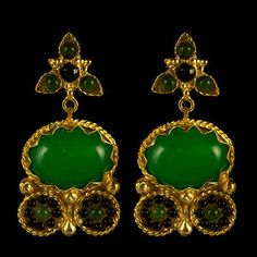 Athena Earrings Green, 36€, now featured on Fab.
