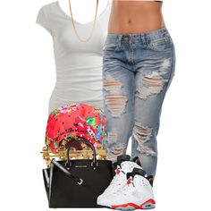 A fashion look from May 2014 featuring Wet Seal t-shirts, MICHAEL Michael Kors handbags and Melody Ehsani earrings. Browse and shop related looks.