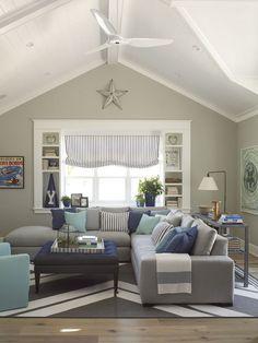 Coastal Game/Rec Room photo by Burnham Design