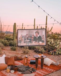 A fun project this summer would be to build a backyard movie theater for you and your family to enjoy in the balmy evenings. Home Decor Shops, Online Home Decor Stores, Unique Home Decor, Home Decor Styles, Palm Springs, Backyard Movie Theaters, Wholesale Home Decor, Grinch Stole Christmas, Amazon Home