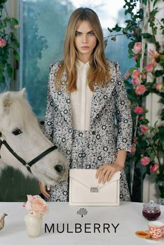Cara Delevingne for Mulberry Spring Summer 2014