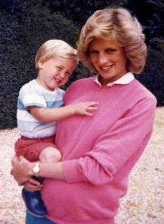 Prince William and Princess Diana in a photo from the princes' personal collection