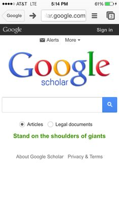 Google scholar allows me to search for scholary journels and articles when writing a college paper. I usually choose google scholar because they have the best information that I need for a formal paper.