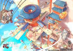 City In The Sky, Hulala_cn (2D) by Chen Lu | 2D | CGSociety