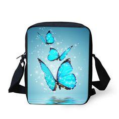 FORUDESIGNS Crossbody Bags for Women Designer Butterfly Printing Xmas Bag Casual Mini Female Girl Messenger Bags Bolsos Mujer