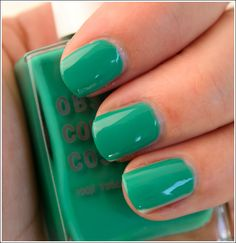 WANT! It's OCC cosmetic's nail polish in chlorophyll. I've been OBSESSED with blue-greens lately.