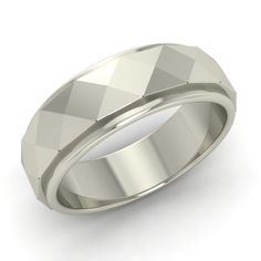 Hammered Finish Men's Wedding Anniversary Ring Band In Solid 925 Sterling Silver #Gemsea #Band