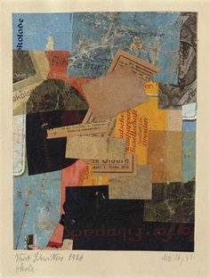Kurt Schwitters, Mz 26, 41 ocala, 1926  Paper collage on paper laid on board