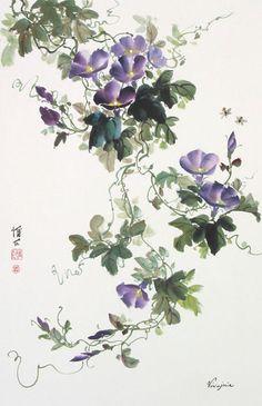 chinese painting images using art brushes | ... & Birds Gallery: Chinese Brush Painting - Virginia Lloyd-Davies