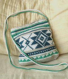 Folk Dance Bag -- free tapestry crochet pattern by DROPS