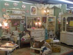 Antique Booth Decorating Ideas | Rediscovered Potential: Inspirational Trip to the Local Antique Mall