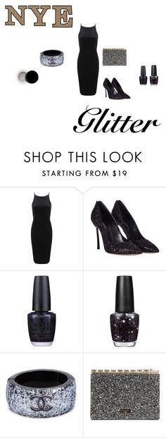 """""""happy new year"""" by her-aesthetic on Polyvore featuring beauty, Topshop, Casadei, OPI, Chanel and Inglot"""
