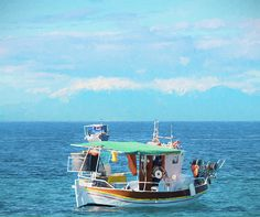 Fishing boats in Greece near Mount Olympus