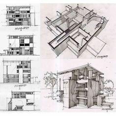 Study on Le Corbusier's Shodhan House by Reza Asgaripour