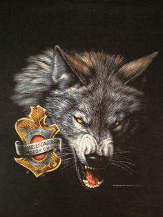 ?Harley Davidson Milwaukee ?MENS T SHIRT?Wolf Graphic?Size Large
