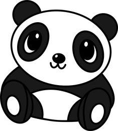 Cute Panda Drawings | ... panda drawing i made it using corel draw so simple but so cute right