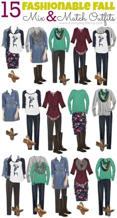 Mix and Match Fall Outfits from Target - Look cute on a budget!