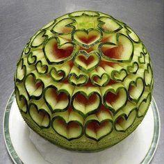 creatief met een meloen