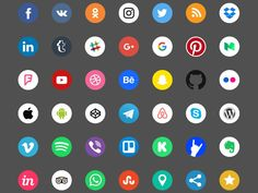 Free Social Icons (Color + Black and White) - http://freebiesjedi.com/2017/07/free-social-icons-color-black-white/