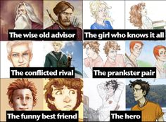 Harry Potter and Percy Jackson characters