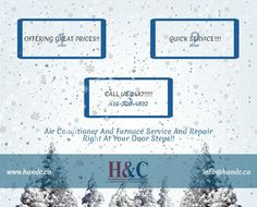 H & C is Toronto based leading heating, cooling & aiirconditioning services provider company which offers quality repair & installation service in Mississauga and Toronto with lowest prices. http://www.handc.ca/services/furnace_repair