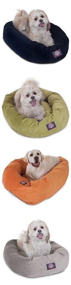 Animals Dog: Majestic Pet Villa Micro-Velvet Bagel Dog Bed -> BUY IT NOW ONLY: $88.24 on eBay!