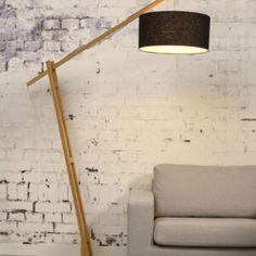 Montblanc Floor Lamp Good&Mojo • WOO .Design Desk Lamp, Table Lamp, Diy Floor Lamp, Bioethanol Fireplace, Bamboo Lamp, Home Lighting, Bamboo Floor, Wall Lights, Bulb