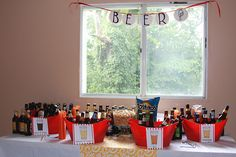 I am so hosting a beer tasting party this summer!    from http://www.runs-with-spatulas.com/2011/08/foodbuzz-24x24-summers-end-beer-tasting.html