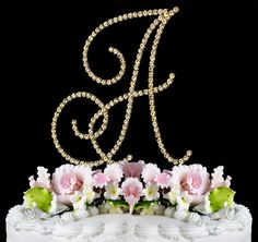 Monogram Cake Topper   Monogram Letter Cake Topper   Monogram Wedding Cake Top