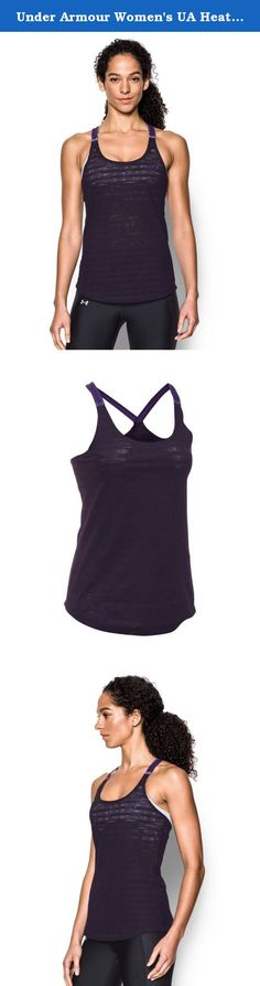 Under Armour Women's UA HeatGear Armour Supervent Tank Small IMPERIAL PURPLE. Super-light HeatGear® fabric with allover engineered mesh for true breathability in a light, stretchy, durable, fast-drying fabric. UA CoolSwitch straps use an exclusive coating on the inside that pulls heat away from your skin, making you actually feel cool & able to perform longer. Signature Moisture Transport System wicks sweat to keep you dry & light. Reflective binding back detail. Shaped hem delivers…