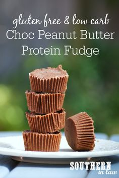 This Healthy Chocolate Peanut Butter Protein Fudge Recipe is SO easy to make and so delicious too! It is also gluten free, low carb, grain free, high protein, clean eating friendly, refined sugar free and has a diabetic sugar free option too!