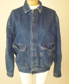 Levi's Jean Jacket Plaid Lined Elastic Back Waist Zipper Front Womens Sz M  #Levis #JeanJacket http://stores.ebay.com/Castys-Collectibles?_dmd=2&_nkw=jean+jacket