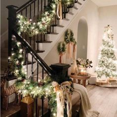 236 best christmas stairs images in 2019 stairs white christmas rh pinterest com