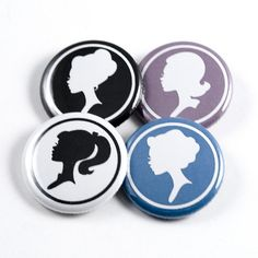 Cameo Silhouettes badges- select silhouette, put your supplies in your badge press with your printed picture all set up and then away you go. :)