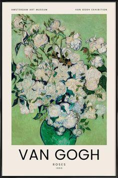 Van Gogh - Roses - 1890 -Poster
