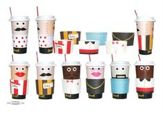 a visual survey of nyc coffee cups design pinterest coffee cup