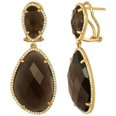 Preowned Smoky Quartz Diamond And Gold Earrings ($2,300) ❤ liked on Polyvore featuring jewelry, earrings, multiple, rose diamond earrings, 14 karat gold earrings, 14k earrings, diamond earrings e smokey quartz earrings