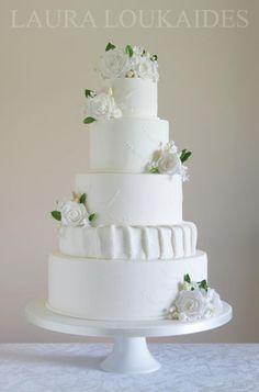 White Wedding Cake - Cake by Laura Loukaides