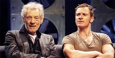 Fassy and Ian McKellen