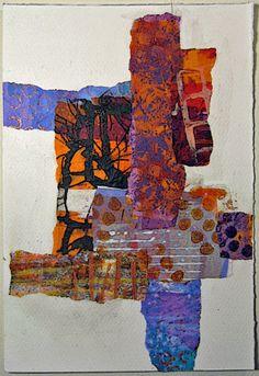 constance rose : mixed media and textiles: Paper Collage - AlexKunst - Art Collage Art Mixed Media, Collage Artwork, Paper Collage Art, Magazin Design, Painted Paper, Art Journal Inspiration, Art Plastique, Fabric Art, Art Techniques