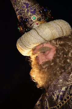 Sa majestat el rei Gaspar a la cavalcada d'Igualada.